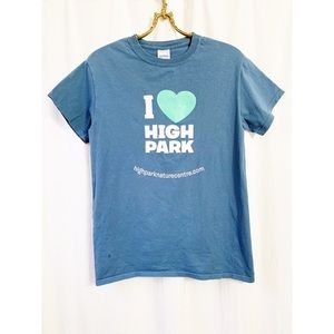 Blue High Park graphic t shirt